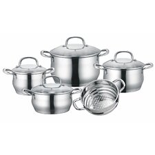 Stainless Steel 9 Piece Cookware Set