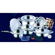 19-Piece Hoffmayer Premium Surgical Stainless Steel Cookware Set