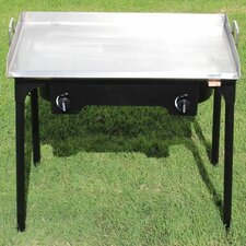 """32"""" Gas Grill with Double Burner Stand"""