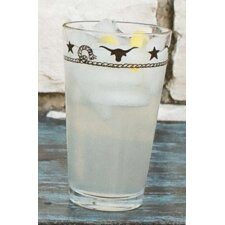 Stars and Longhorns 20 Oz. Mixing Glass (Set of 4)