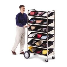 6 Shelf Mobile Bin Cart