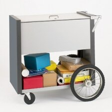 Medium File Cart with Rear Wheels with Locking Top