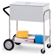 Medium File Cart with Rear Tires and Locking Top