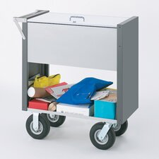 Medium Solid File Cart with Locking Top and Caster