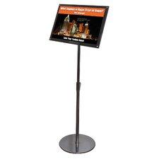 Telescoping Sign Display Floor Stand