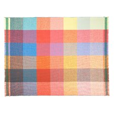 Integrate Time and Space Squares Wool Throw Blanket