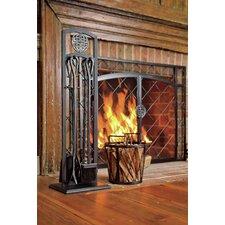 4 Piece Steel Fireplace Tools Set