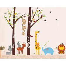 Party in the Woodland Removable Vinyl Art Wall Decal