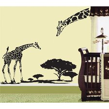 Little Giraffe and His Mother Removable Vinyl Art Wall Decal