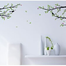 Elegant Tree Branch with Birds Decoration Wall Decal