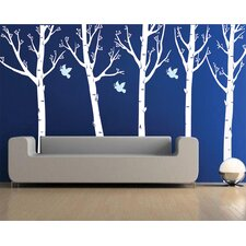 Super Big Trees with Flying Birds Wall Decal