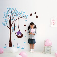 Funny Cat Plays Swing Wall Decal