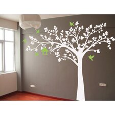 Big Tree with Love Birds Tree Removable Vinyl Art Wall Decal