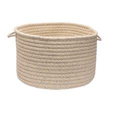 Natural Wool Houndstooth Utility Basket
