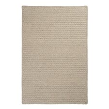 Natural Wool Houndstooth Braided Cream Area Rug