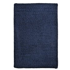 Simple Chenille Navy Area Rug