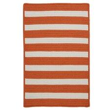 Stripe It Tangerine Indoor/Outdoor Area Rug