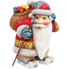 Derevo Downhill Santa Figurine