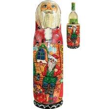 Russian Santa Workshop 1 Bottle Wine Bottle Box