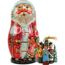 Russian Toy-Bag Santa Nested Doll Ornament
