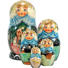 Russian 5 Piece Boyar Wedding Nested Doll Set