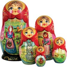 Russian 5 Piece Easter Story Nested Doll Set