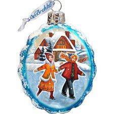 Keepsake Fun Skiing Glass Ornament