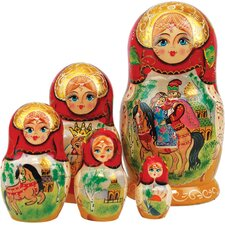 Russian 5 Piece Ivan Tzarevich Nested Doll Set
