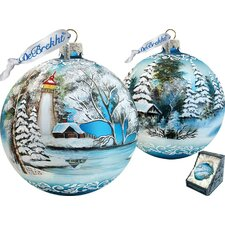 Limited Edition Winter Lighthouse XLG Ornament
