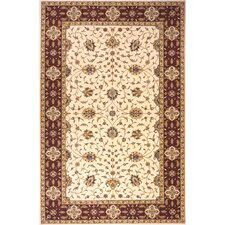 Persian Garden Ivory/Red Area Rug