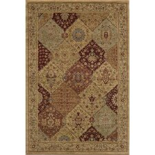 Belmont Checked Burgundy Area Rug