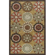 Summit Bold Floral Gold Area Rug