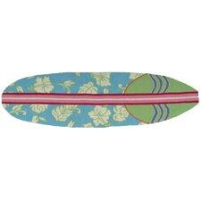 Surfboard Hawaiian Blue Area Rug