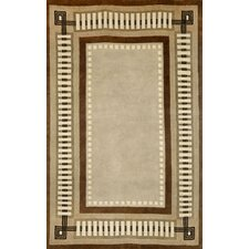 Palermo Modern Border Brown Area Rug