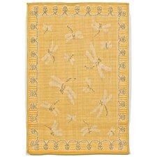 Terrace Yellow Dragonfly Indoor/Outdoor Area Rug
