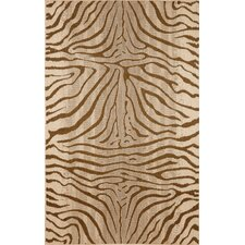 Terrace Brown Zebra Indoor/Outdoor Area Rug