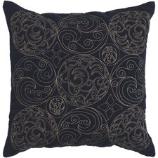 Circles of Scroll Cotton Throw Pillow