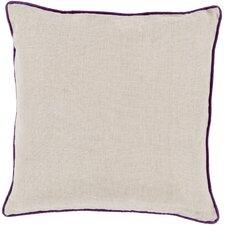 Brilliantly Bordered Linen Throw Pillow