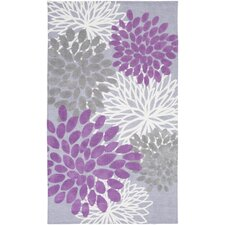 Abigail Orchid Floral Area Rug