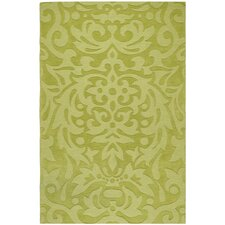 Mystique Lime Green Floral Area Rug