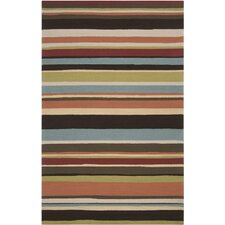 Rain Parchment/Khaki Stripe Indoor/Outdoor Rug