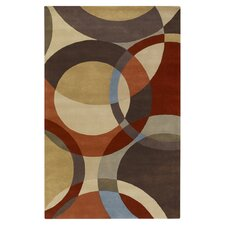 Forum Chocolate/Red Area Rug