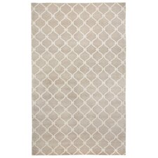 Cococozy Champagne/Ivory Geometric Area Rug