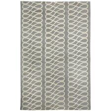 Cococozy Light Charcoal / Cream Twirl Area Rug