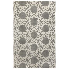 Cococozy Light Charcoal / Cream Princeton Area Rug