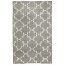 Cococozy Light Charcoal/Cream Geometric Area Rug