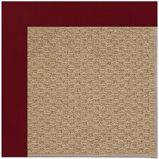 Zoe Raffia Machine Tufted Red/Brown Area Rug