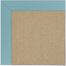 Zoe Sisal Machine Tufted Bright Blue/Brown Area Rug