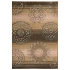 Portia Amber Medallion Outdoor Area Rug