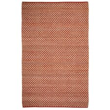 Clay Red / Ivoty Checkered Area Rug